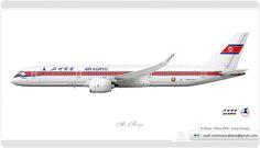 https://flic.kr/p/h7RNFZ | Air Koryo / Livery concept | Air Koryo / Airbus A350 / Livery Concept