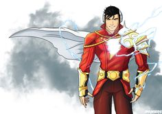 Want to discover art related to Shazam? Check out inspiring examples of Shazam artwork on DeviantArt, and get inspired by our community of talented artists. Captain Marvel Shazam, Hq Marvel, Shazam Comic, Arte Dc Comics, Superhero Characters, Dc Comics Characters, Personnage Dc Comics, Mundo Superman, Superhero Design