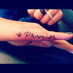 pinky promise, I like that its in the outside of the finger and I like the small heart.