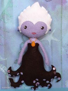 Kosucas : La sirenita y Ursula de fieltro.