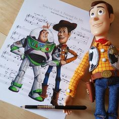 You've Got A Friend In Me [feat. Woody (x2) & Buzz Lightyear] (Music by DoughtyCreARTive @Instagram) #ToyStory
