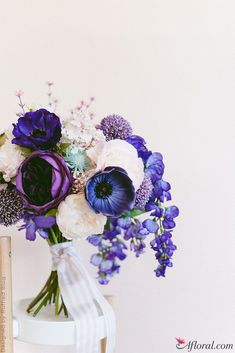 How to Make an Ultra Violet Bridal Bouquet