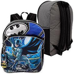 DC Comics WB Shield Batman Boys School Backpack 16'' Blue/Black …, , 18.68