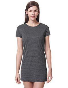 REGNA X Basic womens boat neck short sleeve tunic dress top * Click image for more details.Note:It is affiliate link to Amazon.