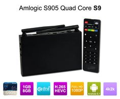 Amlogic S905 Quad Core ARM Cortex™-A53 CPU up to 2.0 GHz (DVFS) Penta-Core Mali-450 Up to 750Mhz+ android5.1 tv box