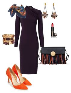 """Fall blues and violets"" by yolkavtapkah on Polyvore featuring JustFab, Cushnie Et Ochs, Henri Bendel and Hermès"