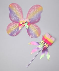 Take a look at this Rainbow Fairy Wings & Wand by Popatu by Posh on #zulily today!