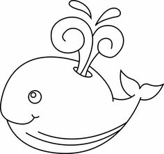Patterns for painting. Discussion on LiveInternet - The Russian Online Diaries Service Easy Animal Drawings, Art Drawings, Sea Whale, Easy Animals, Online Diary, Baby Time, Little Man, Gift Tags, Coloring Pages