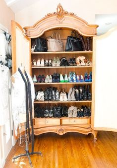 Sophisticated Storage: Shoes in the Armoire