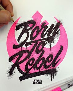 Born to rebel hand lettering - Exited about Rogue One but can only watch it till Sunday!! No spoilers please. #rogueone #starwars #fanart #type #typography #art #rebel #inspiration #typographyinspired #thedailytype #goodtype #calligritype #artoftype #typematters #tyxca #handmadefont #sharpie #ink #theresistance #illustration #sketch #ilovetype #splatter #tipografia #letras #graphicdesigncentral #grahicart #color