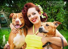 """Deirdre """"Little Darling"""" Franklin...  Pinups for Pitbulls, was founded in 2005 by Deirdre """"Little Darling"""" Franklin. Deirdre was tired of finding that so-called rescues and shelters were euthanizing healthy, friendly, and adoptable animals due to their alleged """"breed"""", and so she utilized her background in modeling and education in fine arts to create a calendar like no other–eye-catching pinup girls and their pups, paying close attention to detail and era appropriate style along the way…"""