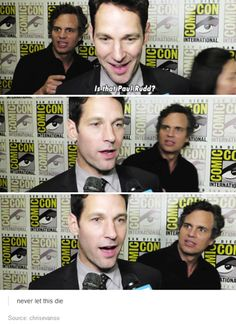 Mark Ruffalo | This would be my reaction if I saw Paul Rudd too...