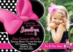 HUGE SELECTION Minnie Mouse Invitation by ThePrintableOccasion, $10.00