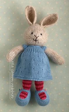 Didi - a knitted rabbit