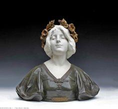JULIEN CAUSSE | Julien CAUSSE important buste Art Nouveau 1900 - Galerie Tramway