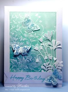Birthday Butterflies by Rica - Cards and Paper Crafts at Splitcoaststampers
