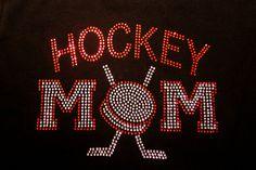 Women's rhinestone Hockey Mom shirt by RedheadedMonkeys on Etsy