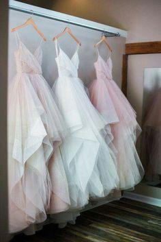 Love the subtle colour!! #weddingdress #colourfulwedding