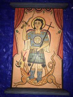 San Miquel Arcangel - Retablo by Adan Carriaga, Albuquerque, NM via Art of Adan Carriaga: New Mexico Santero FB