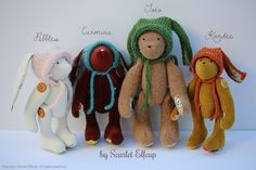 Spring Bears and Bunnies by Scarlet Elfcup www.scarletelfcup.com