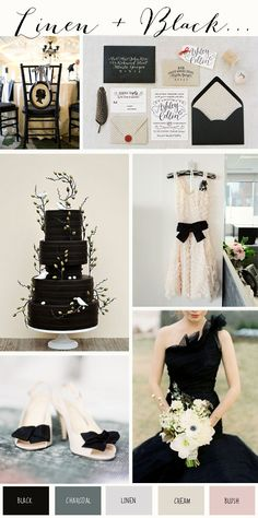 Linen & Black: Wedding Colour Inspiration - Wedding Inspiration & Ideas | UK Wedding Blog: Want That Wedding