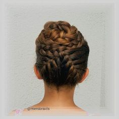 """""""Braided hair up ...inspired by Shannon @silvousplaits_hairstyling Enjoy a lovely Saturday all """" Photo taken by @merobraids on Instagram, pinned via the InstaPin iOS App! http://www.instapinapp.com (07/18/2015)"""