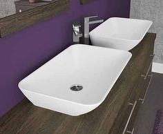 Linear - Suspended units can be placed individually with a bench basin or can join together to create a luxury look with twin basins.