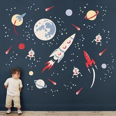 I've just found Space Rockets Fabric Wall Sticker. To infinity and beyond! Create an amazing space scene with our Space Rocket wall stickers. Boys Space Bedroom, Boy Room, Kid Bedrooms, Kids Room, Bedroom Themes, Nursery Themes, Nursery Decor, Bedroom Ideas, Space Themed Nursery