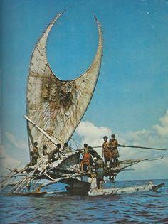 1012170_171207719719668_999189941_n.jpg (718×960) Judith Balfe shot this photo of a Tepuke voyaging canoe in 1957