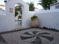 Spetses - Greece Greek Islands, Villa, Close Image, Fishing Boats, Potted Plants, Photo Galleries, Pebble Mosaic, Mansions, Arrow Keys