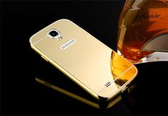 Gold Plated Aluminum Metal Frame And Mirror PC Back Cover Case For Samsung GALAXY S4 SIV S 4 IV i9500 Cell Phone Bag Case-in Phone Bags & Cases from Phones & Telecommunications on Aliexpress.com   Alibaba Group