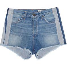 rag & bone Marilyn denim shorts (660 PLN) ❤ liked on Polyvore featuring shorts, denim, short, mid denim, denim shorts, denim short shorts, jean shorts, light blue jean shorts and relaxed shorts