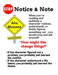 Notice and Note Signpost Anchor Charts