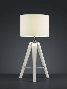 GENT Trio - stolná lampa na trojnožke - 670mm - drevo+textil