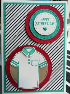Stampin up Fathers day card with the Stitched framelits and the T-shirt builder bundle  MADE BY INEPIE