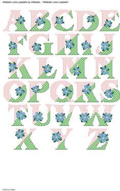 alfabeto colori pastello