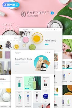 Do you need a fast, reliable and stylish website for your online store to sell cosmetics products and beauty items? - Try out this responsive Eveprest Beauty Web Design, Store Design, Graphic Design, Website Design Inspiration, Design Ideas, Best Website Templates, Eco Store, Beauty Supply Store, Makeup Store