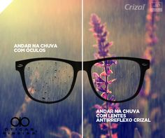 Quem usa óculos conhece bem o desconforto que é ficar com as lentes molhadas em dias de chuva!  Uma das vantagens de adotar as lentes Crizal é que graças a camada hidrofóbica das lentes, as gotas de chuva escorregam, deixando a visão mais nítida!  Se a chuva pegar você de surpresa, fique tranquilo se estiver com as lentes anti-reflexo Crizal! Se não, procure já um especialista em uma de nossas lojas!  Encontre-nos no Facebook! https://www.facebook.com/oticasribeira