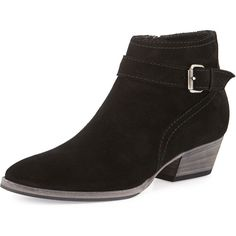 Aquatalia Fanny Suede Ankle Boot (118.955 HUF) ❤ liked on Polyvore