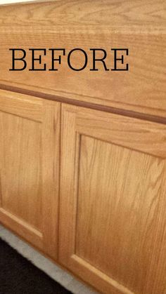 Changing Your Honey Cabinets Easily - Salvage Sister and Mister - - Turning a honey bathroom cabinet into a modern beauty. Easy and cheap DIY. Painting Oak Cabinets, Staining Cabinets, Diy Cabinets, Bathroom Cabinets, Refurbished Cabinets, Cabinet Refinishing, Refinished Furniture, Furniture Makeover, Updated Kitchen