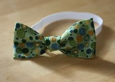 Step-By-Step Picture Tutorial For Little Boys Bowties!! Making One for my little man this week.