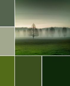 Gray to green.