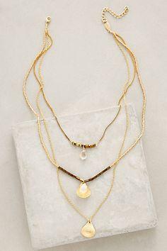 Halfshell Layered Necklace #anthropologie