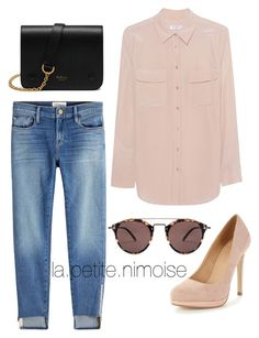 """""""Tenue Anna"""" by latiteislandaise on Polyvore featuring mode, Frame, Equipment, Oliver Peoples et Mulberry"""