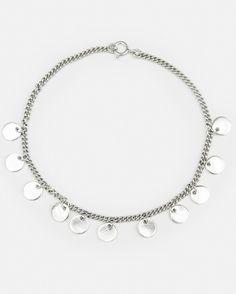 Fashionology - Sterling Silver Multi Coin Bracelet