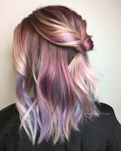 Hair Color Purple, Hair Color For Black Hair, Blonde Color, Purple Ombre, Black Ombre, Hair Colors, Unique Hair Color, Brown Hair, Pastel Purple