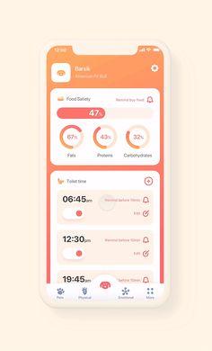 "Pet Care App - Pet Care App on Behance "" Pet Care App on Behance Best Picture For trends moodboard For Your Ta - Health Chart, Health App, Pet Health, Health Logo, App Ui Design, Mobile App Design, App Design Inspiration, Mobile App Ui, App Logo"