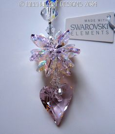 Made With Swarovski Crystal Suncatcher 27mm by LilliHeartDesigns, $23.99