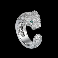 Cartier panthere ring Cartier Panther Ring, Jaguar Panther, Cartier Panthere, Tiger Love, Emeralds, Love Bracelets, Geometry, Beautiful Things, Heart Ring