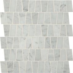 MS International Carrara White Trapezoid Pattern 12 in. x 12 in. x 10 mm Polished Marble Mesh-Mounted Mosaic Tile sq. / case)-SMOT-CAR-TRAP - The Home Depot Honed Marble, Marble Mosaic, Glass Mosaic Tiles, Stone Mosaic, Stone Tiles, Wall And Floor Tiles, Wall Tiles, Thing 1, Home Depot